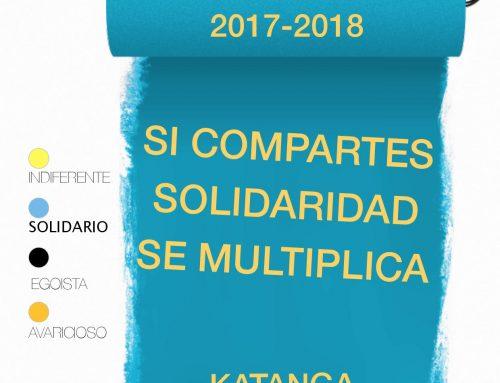 Póster de la campaña solidaria 2017 – 2018