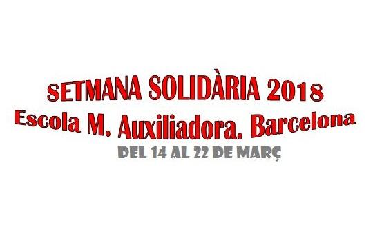 Semana Solidaria en el Colegio María Auxiliadora de Sepúlveda (Barcelona)