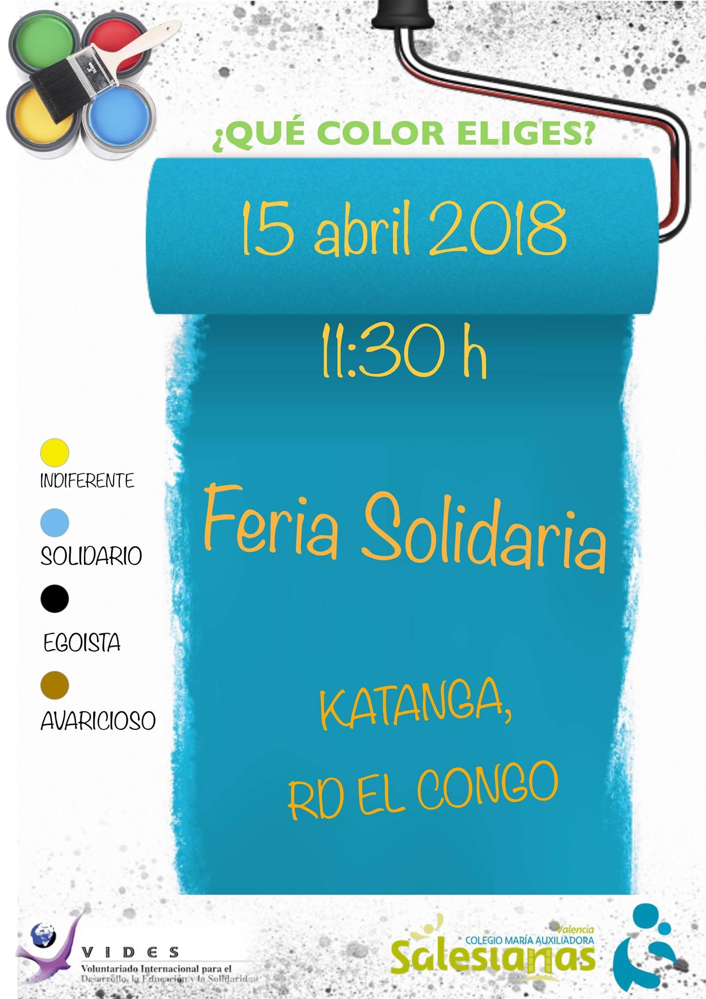 Feria Solidaria en el Colegio María Auxiliadora de Valencia