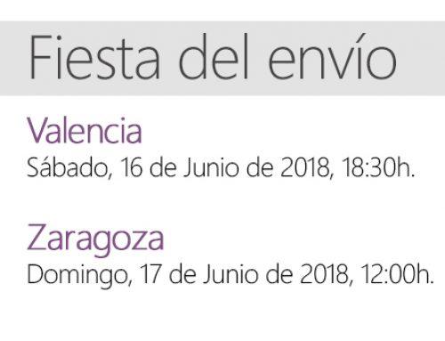 Celebramos la Fiesta del Envío en Valencia y Zaragoza