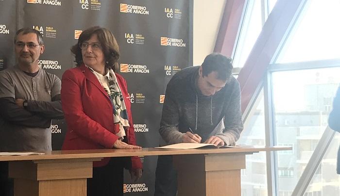 Firma del convenio de colaboración con el Gobierno de Aragón