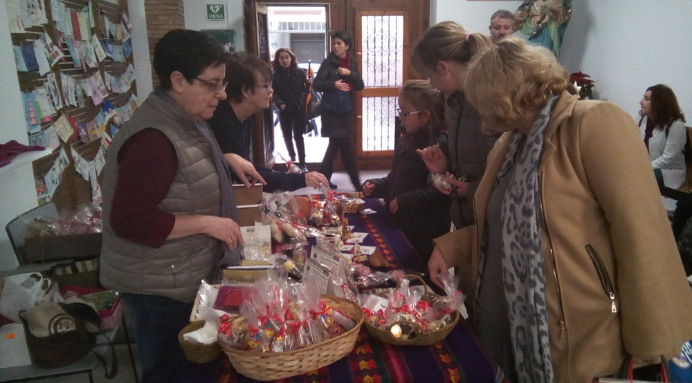 Stand navideño en el Colegio de las Salesianas en Valencia, del 10 al 20 de diciembre