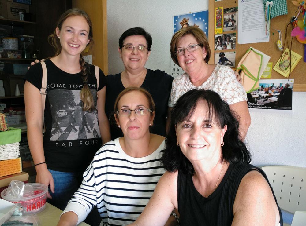 Finaliza la estancia de una voluntaria en Valencia