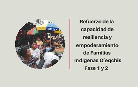 Proyecto: Refuerzo de la capacidad de resiliencia y empoderamiento de familias indígenas Q'eqchis