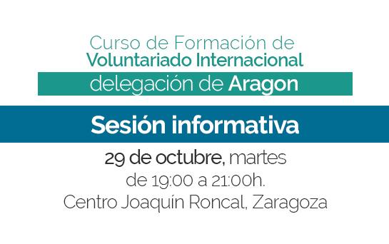 Sesión informativa sobre el Curso de Formación en Zaragoza