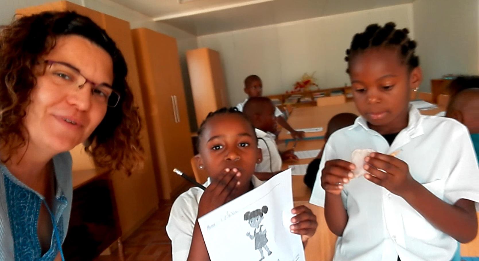 Cristina, voluntaria de VIDES en Mozambique