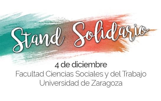 Stand Solidario en la Universidad de Zaragoza