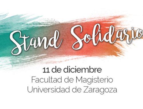Stand Solidario en la la facultad de magisterio de la Universidad de Zaragoza