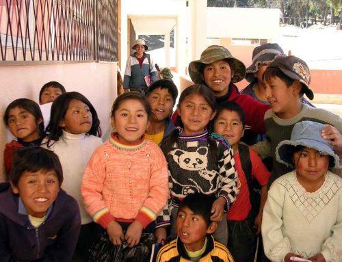 Fiesta de Navidad de las familias apadrinadas en Carabuco (Bolivia)