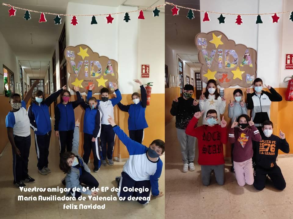 El alumnado de primaria de Valencia felicita la navidad a los niños y niñas de Moatize