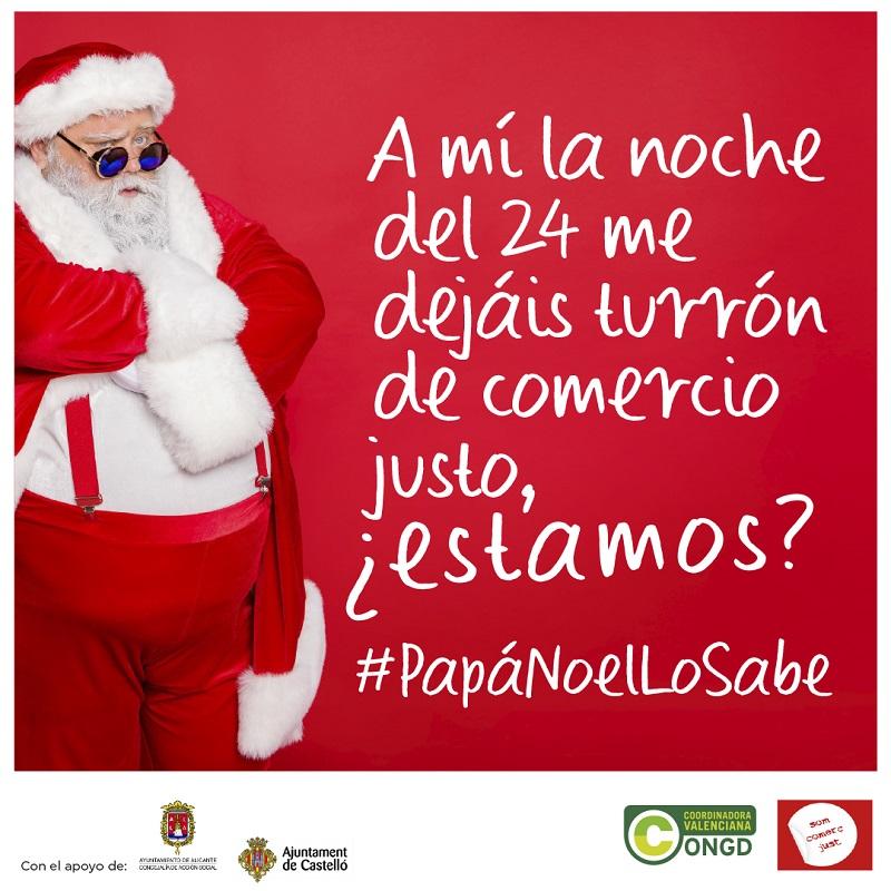 Campaña en apoyo del Comercio Justo en C.Valenciana