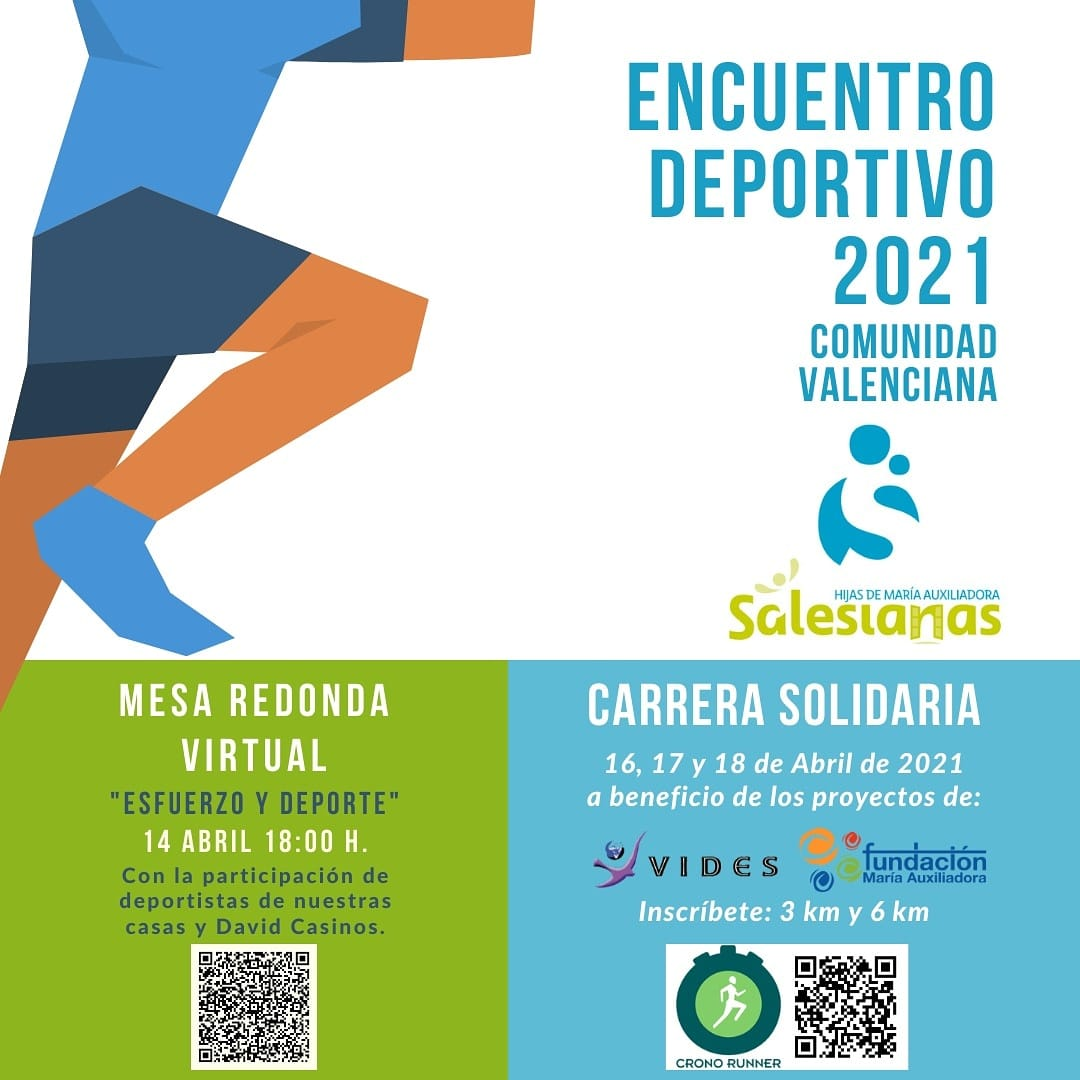 Carrera virtual solidaria a favor de VIDES