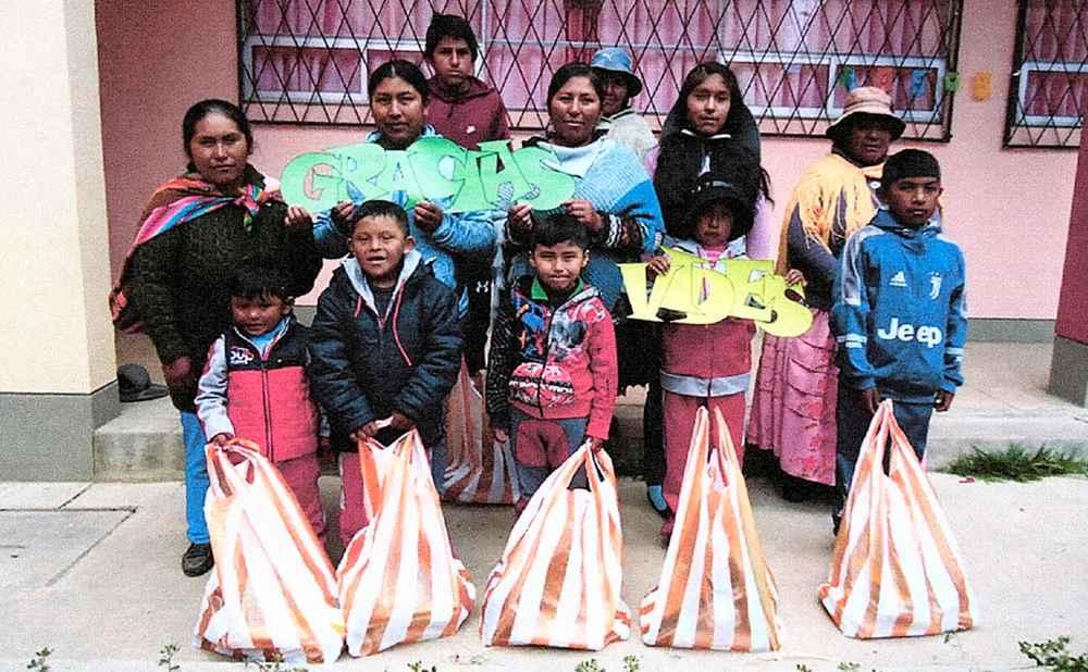 Actividades en el programa de apadrinamientos de Carabuco (Bolivia)